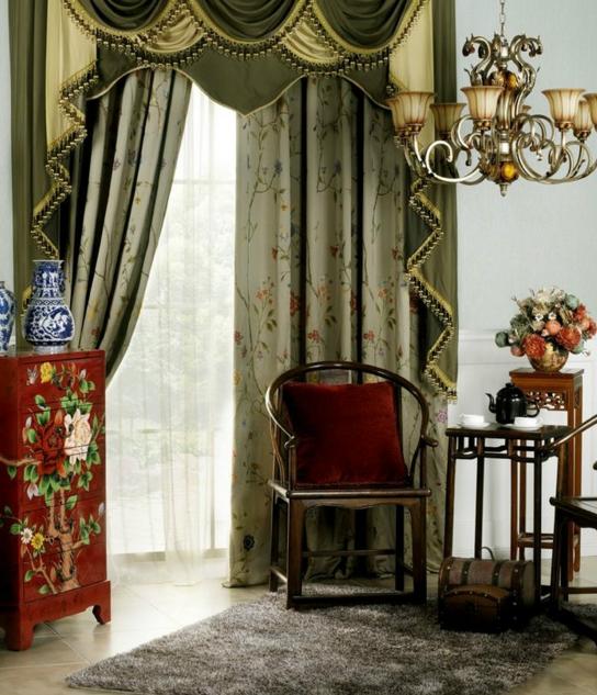 中式风格窗帘搭配技巧